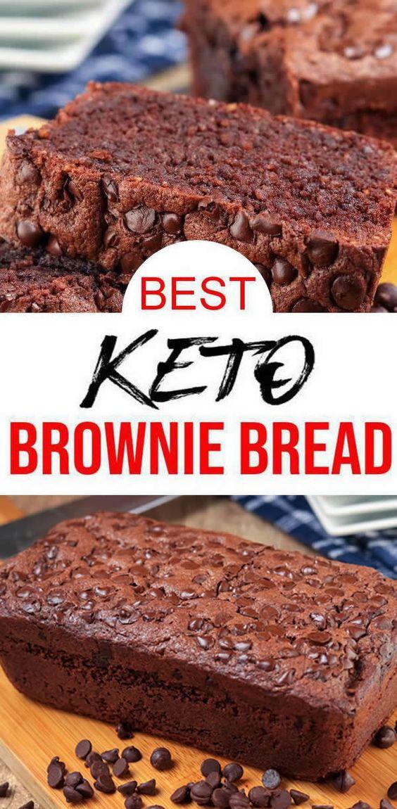 BEST Keto Bread! Low Carb Chocolate Brownie Loaf Bread ...