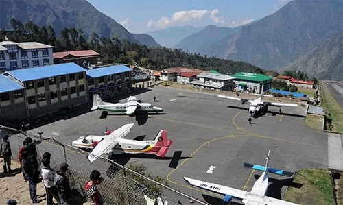 The world's most dangerous airport in the Himalayas