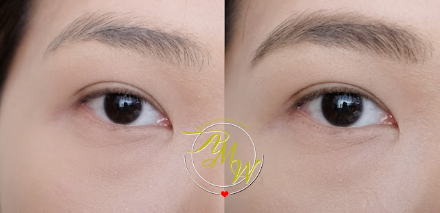 before and after photo of Benefit Foolproof Brow Powder