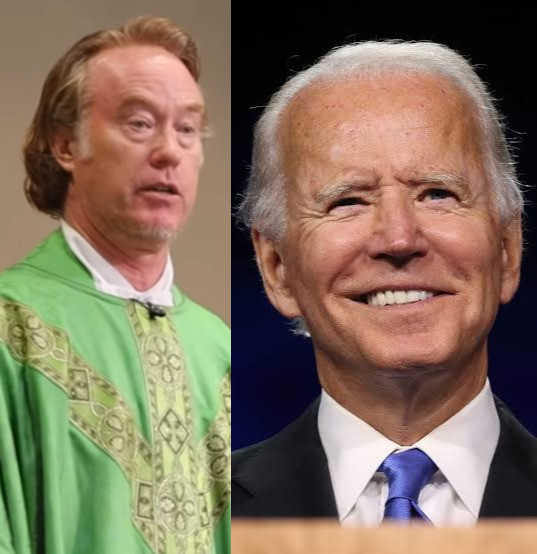 """""""Over my dead body"""" - Catholic priest says he'll never give US President, Joe Biden, Holy Communion unless he repents (video)"""
