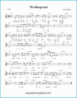 chord this masquerade lagu jazz standar