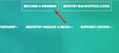 Регистрация в Biostry