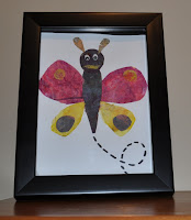 Kids art activity paint butterflies like Eric Carle
