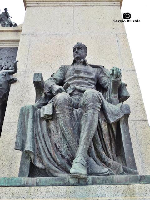 Close-up da Escultura Padre Diogo Antônio Feijó - Monumento à Independência do Brasil - Ipiranga - São Paulo