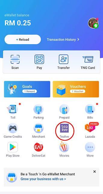 Cara Order Trealive Menggunakan Touch 'N Go eWallet