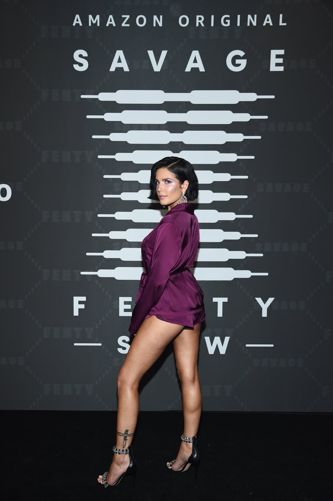 Halsey bares long legs at the Savage x Fenty NYFW Show