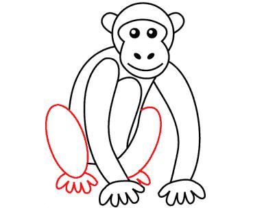 Cara Menggambar Monyet Dengan Mudah Lengkap