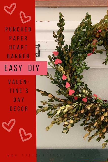 How to make a Punched Paper Heart Banner for Valentine's Day