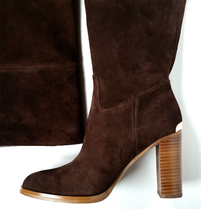 295 michael kors boots 6 5 brown suede boots