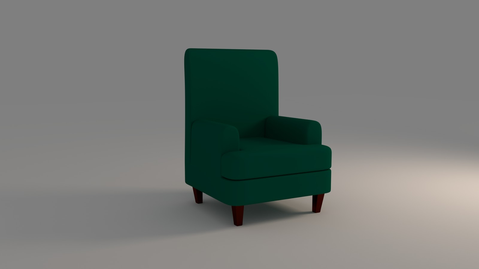Free 3D Accent Chair .blend file