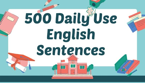 500 Most Common Daily Use English Sentences With Hindi