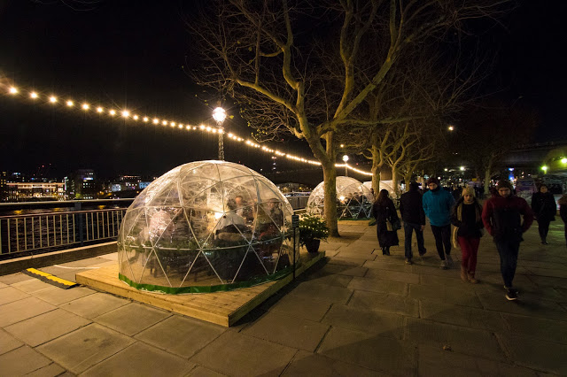South Bank-Ristorante ad igloo-Londra