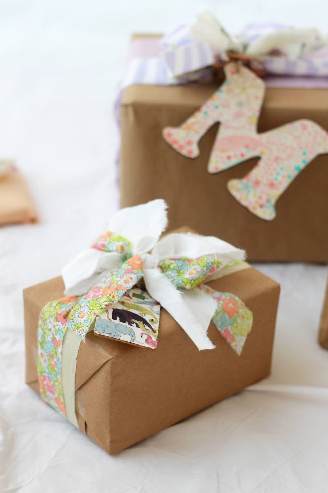 Gift Wrapping – Liberty Print Gift Tags from Laura Made It