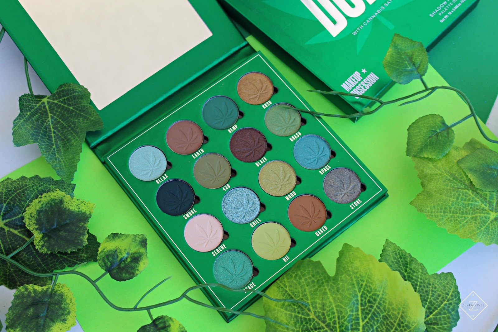 Paleta cieni do powiek SO DOPE with Cannabis Sativa - Makeup Obsession