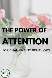Do you have a student with major discipline issues? The Power of Attention is a must read for all teachers! Blog post from Hello Mrs Sykes