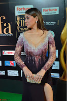 Hansika Motwani in Glittering Deep Neck Transparent Leg Split Purple Gown at IIFA Utsavam Awards 19.JPG