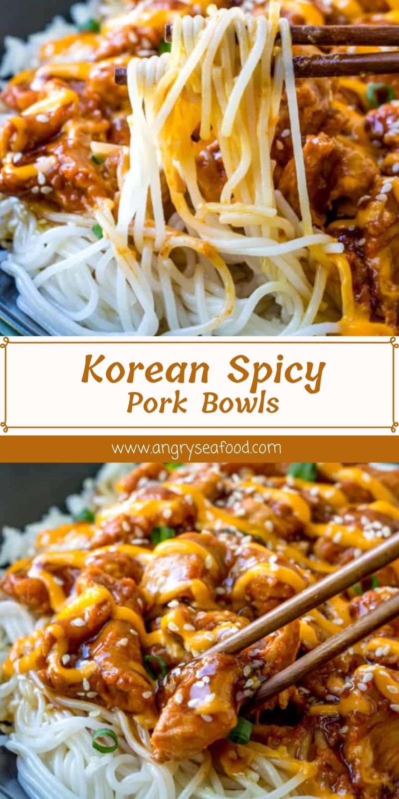 Korean Spicy Pork Bowls