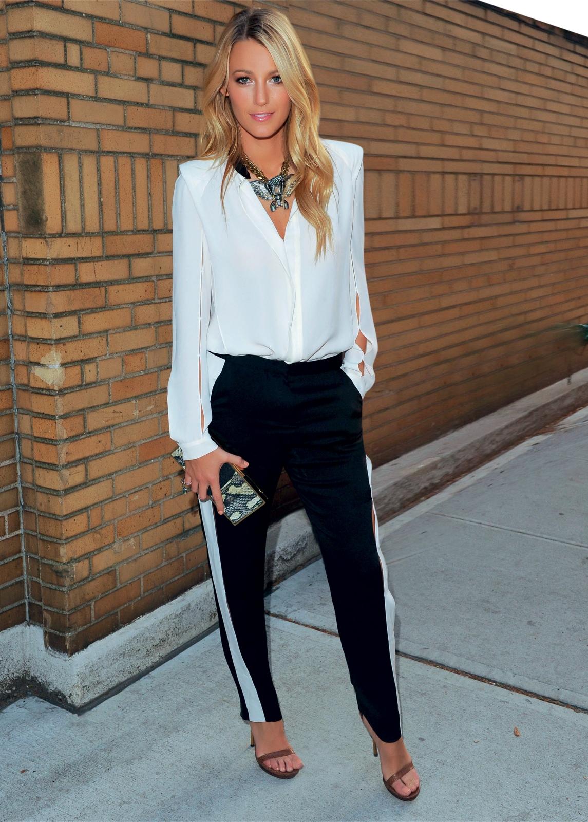 0ea4b6730a Fernanda Gehling  Pants Black and White