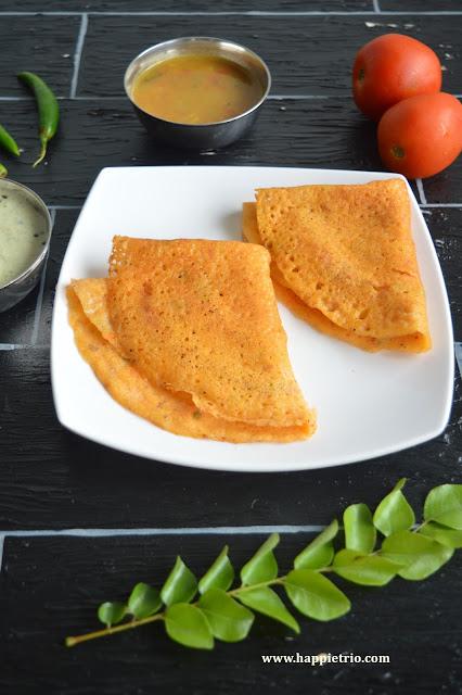 Tomato Dosa Recipe | Thakalli Dosa