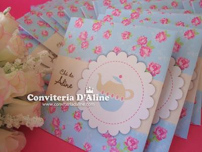 convite chá de cozinha provençal
