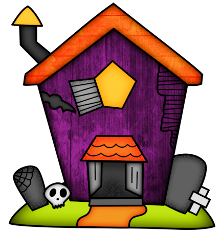 Halloween Haunted Houses Clipart. - Oh My Fiesta! in english