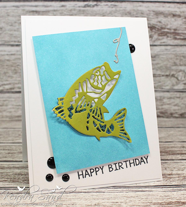 Luv 2 scrap n make cards happy birthday fish happy birthday fish bookmarktalkfo Gallery