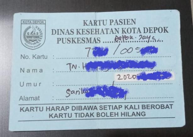 kartu berobat daftar online pueskesmas di Depok