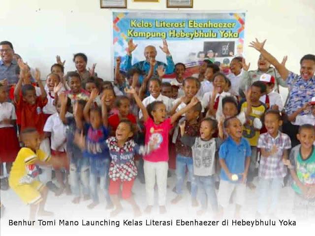 Benhur Tomi Mano Launching Kelas Literasi Ebenhaezer di Hebeybhulu Yoka