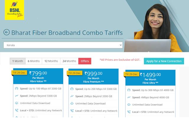 BSNL extends Fiber Value ₹799, Fiber Premium ₹999 & Fiber Ultra ₹1499 FTTH Broadband plans to more areas; Check the latest list here