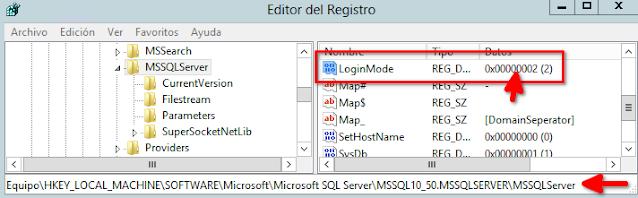 MSSQL: Habilitar autenticación mixta
