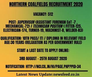 NCL coalfields recruitment