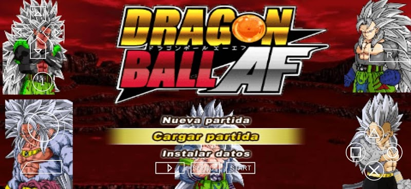 Android PSP Game Dragon Ball AF DBZ TTT MOD With Permanent Menu