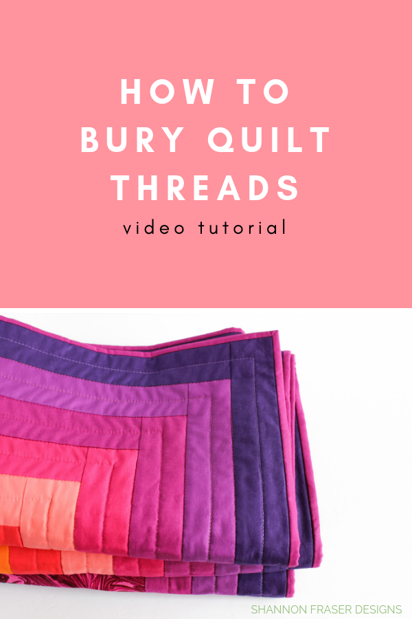 Video Tutorial How to bury quilt threads + 5 top tips | Quilting Tutorial | Shannon Fraser Designs