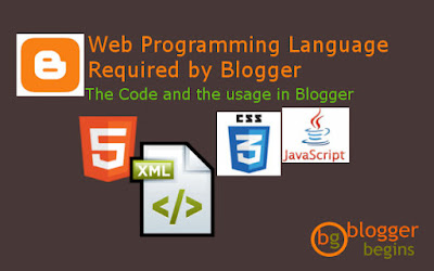 Web Programming Language Required by Blogger
