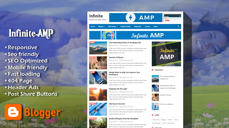 Infinite AMP Premium Blogger Template