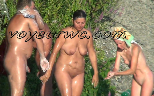 Spy Cam Waterfall Shower 65-74 (Naked women caught on spy cam taking shower natural waterfall)