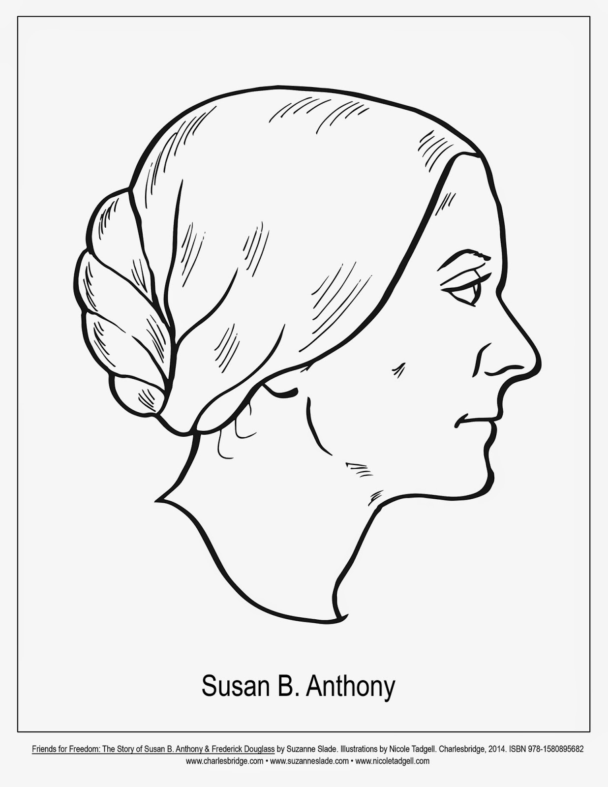 Susan B Anthony Coloring Pages
