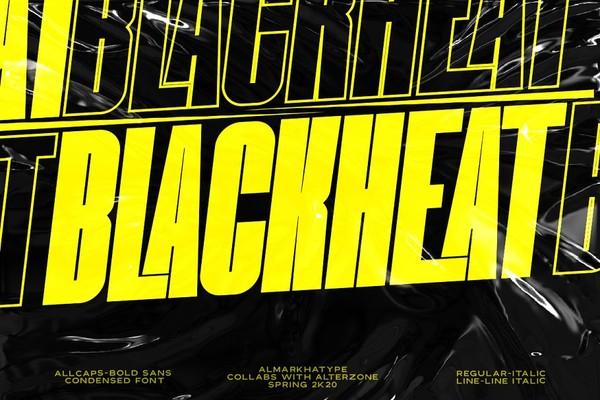Blackheat Bold Sans Condensed Font