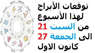 توقعات الأبراج لهذا الأسبوع من السبت 21 الى الجمعة 27 كانون الاول ديسمبر 2019