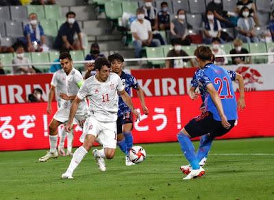 منتخب إسبانيا يتعادل مع منتخب اليابان إستعداداً للأولمبياد