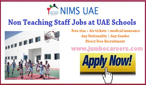 Direct free recruitment jobs in UAE, UAE latest Non teaching staff jobs for Indians, Peon jobs in Dubai Schools  2018 | Administrative jobs in Dubai Schools for Indians