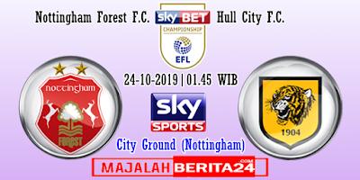 Prediksi Nottingham Forest vs Hull City — 24 Oktober 2019