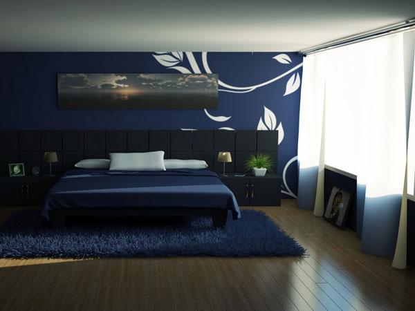 Dormitorios en azul y blanco dormitorios colores y estilos - Colores azules para habitaciones ...