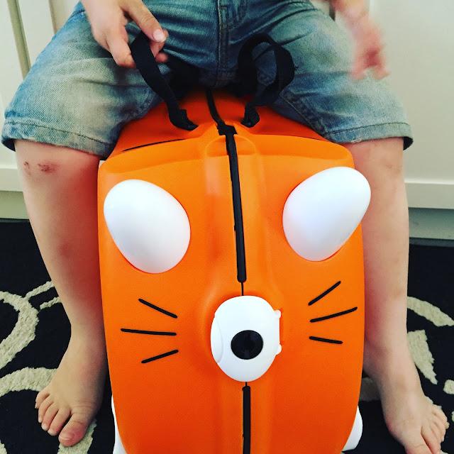 Urlaub mit Kindern, Koffer von trunki