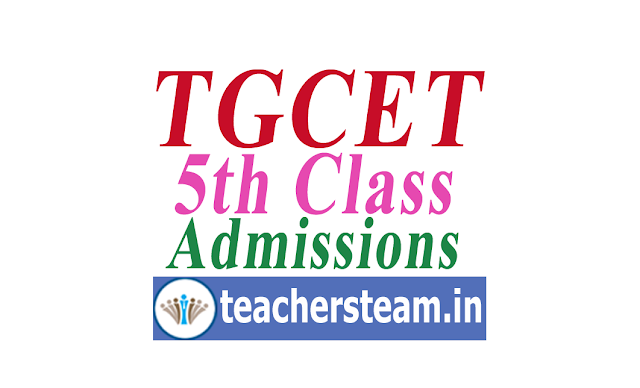 TGCET entrance test-5th class admissions in residential schools