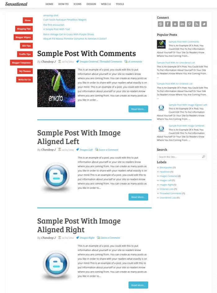 Sensational Fast Loading Blogger Templates