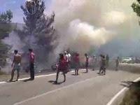 požar Postira otok Brač slike