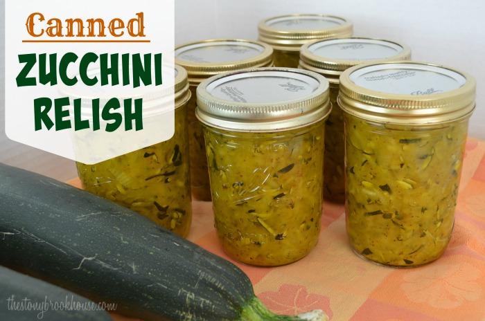 Canned Zucchini Relish