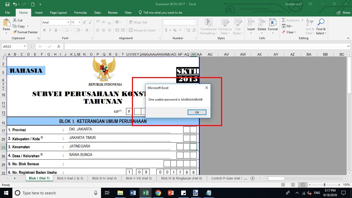 Cara Membuka Sheet Excel Yang Diproteksi Password