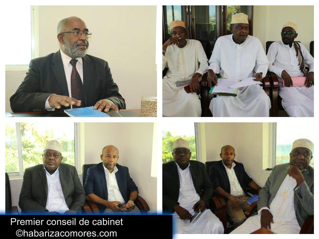 Premier conseil de cabinet du pr sident azali - Cabinet de conseil conduite du changement ...